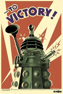 Daleks To Victory Maxi Poster. NEW. Doctor Who. War Propoganda Style Art