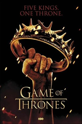Game of Thrones Crown Maxi Poster. Five Kings One Throne. Fantasy TV