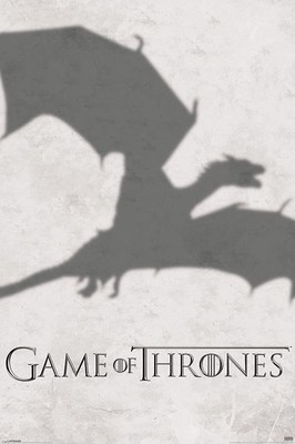 Game of Thrones Saeson 3 Dragon Shadow Maxi Poster. NEW. Fantasy TV