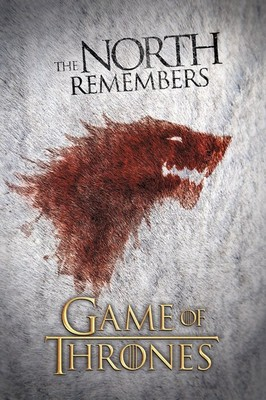 Game of Thrones Wolf Maxi Poster. The North Remembers