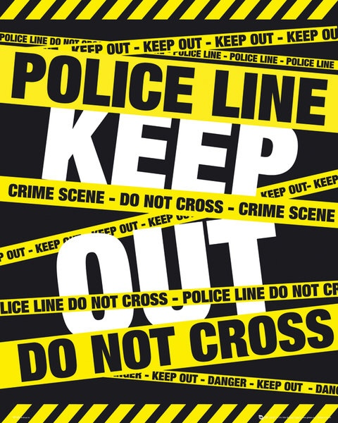 Police Tape Mini Poster. Do Not Cross Line. Keep out