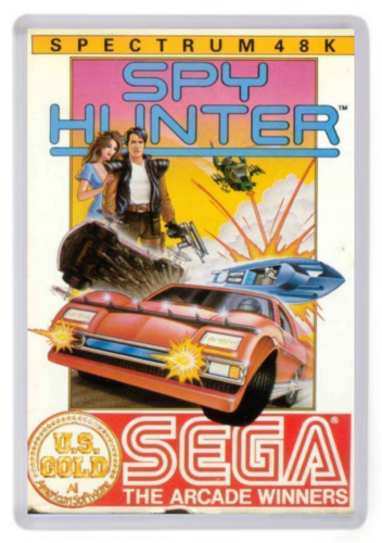 Spy Hunter Fridge Magnet. ZX Spectrum Box Art